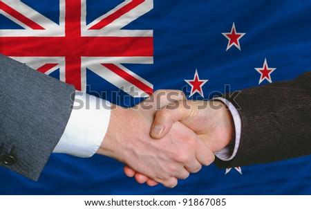 Handshake From New Zealand Foto stock © vepar5