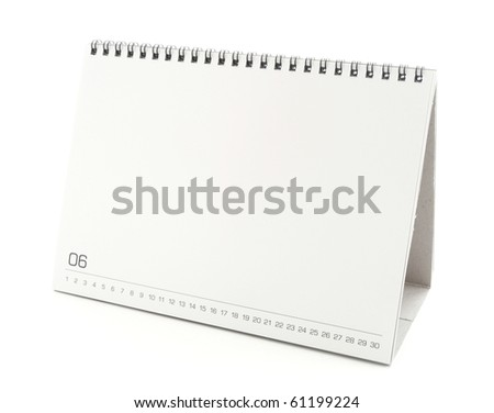 blank desktop calendar with copy space for text design and grap stock photo © inxti
