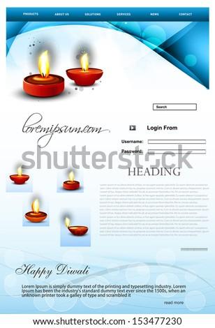 piękna · broszura · szczęśliwy · diwali · szablon · festiwalu - zdjęcia stock © bharat