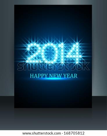 új év 2014 fényes színes fantasztikus sablon Stock fotó © bharat