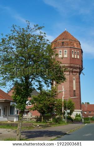 Velho histórico céu água nuvens cidade Foto stock © meinzahn