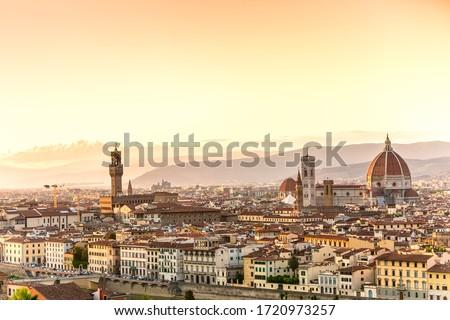 городского живописный Флоренция квадратный Италия человека Сток-фото © alessandro0770