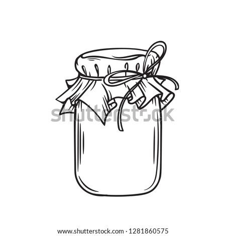 isolated canning jar stock photo © zerbor