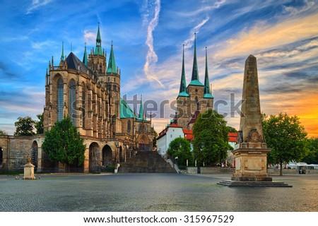Domb Németország égbolt felhők ablak templom Stock fotó © meinzahn