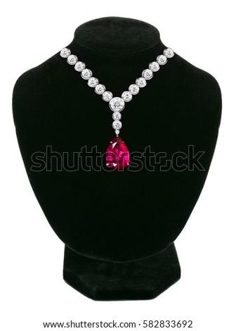 juweel · stenen · zwarte · etalagepop · geïsoleerd · witte - stockfoto © tetkoren
