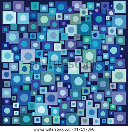 circle square collection in many blue purple over deep blue Stock photo © Melvin07