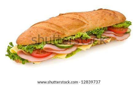 ストックフォト: ハム · チーズ · レタス · サンドイッチ · 穀物 · シード