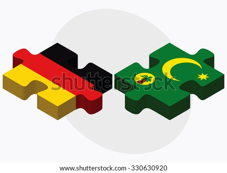 Germany and Cocos (Keeling) Islands Flags Stock photo © Istanbul2009