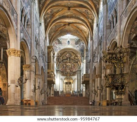 interior of Parma Cathedral, Emilia-Romagna, Italy Stock photo © phbcz