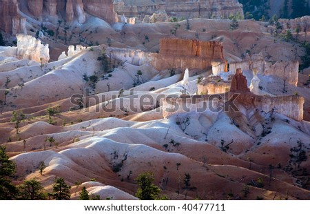 Bryce Canyon with magnificent Stone formation in Morning light Stock photo © meinzahn