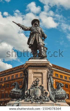 Statue Danish-Norwegian admiral Niels Juel in Copenhagen, Denma Stock photo © vladacanon