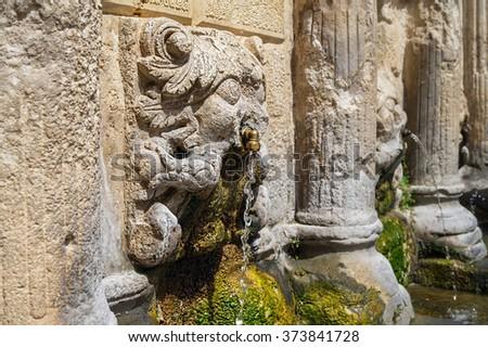 лев · фонтан · основной · города · квадратный · воды - Сток-фото © tuulijumala
