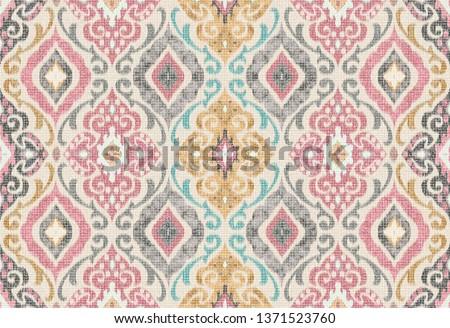 Absztrakt klasszikus végtelenített damaszt minta vektor Stock fotó © fresh_5265954
