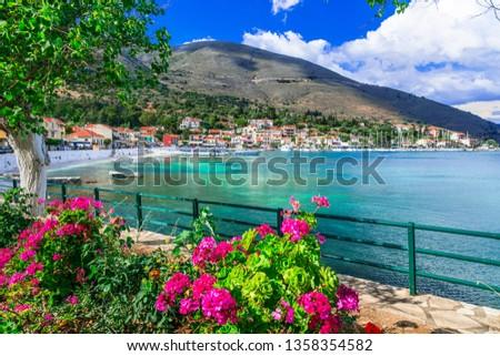 Ionian Island Kefalonia. picturesque Agia Efimia village,Greece. Stock photo © Freesurf