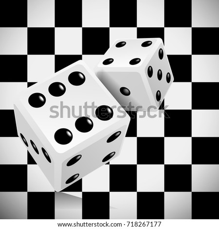 Playing dice for a casino on a transparent checkered background Stock photo © m_pavlov