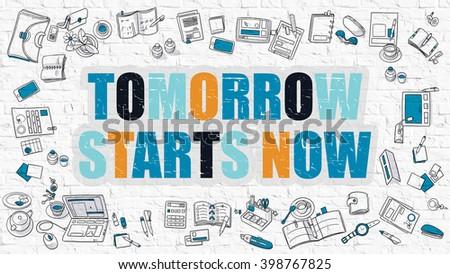 amanhã · agora · abstrato · fundo · linha · começar - foto stock © tashatuvango