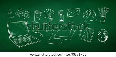 iconos · independiente · negocios · establecer · círculo - foto stock © tashatuvango