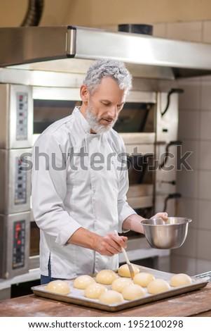 Ipari kenyér folyamat pékség vonal gyártás Stock fotó © georgemuresan
