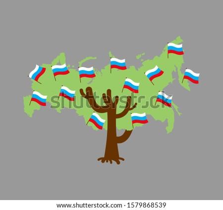 русский · флаг · икона · белый · знак · стране - Сток-фото © popaukropa