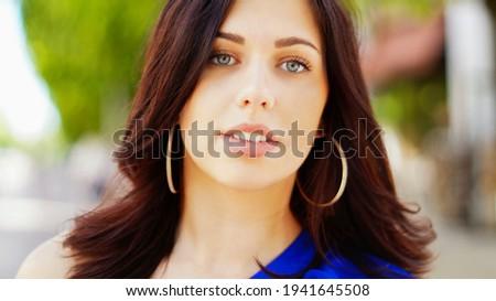 портрет свежие Cute женщины модель темные волосы Сток-фото © deandrobot