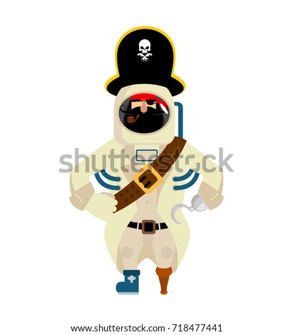 Space pirate. filibuster spaceman. buccaneer Cosmonaut in protec Stock photo © popaukropa