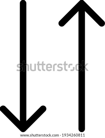Two black opposite vertical arrows isolated on white background. Stock photo © kyryloff
