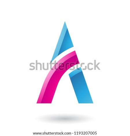 Magenta azul carta vara vetor ilustração Foto stock © cidepix
