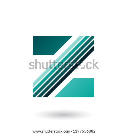persian green letter z with thick diagonal stripes vector illust stock photo © cidepix