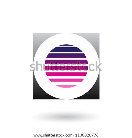 Listrado praça magenta preto ícone Foto stock © cidepix