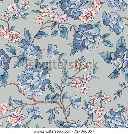 Floral seamless pattern.  Flower background. Flourish garden tex Stock photo © Terriana