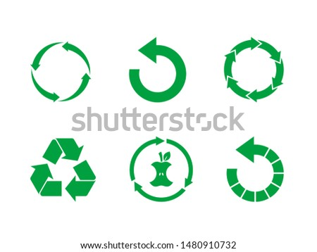 Apple background and label on it. Environmentally friendly product good for health. Vector Stock photo © m_pavlov