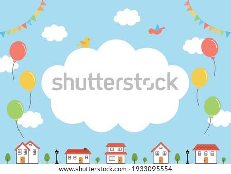örnek · kelime · bulutlar · işsiz · vektör · görüntü - stok fotoğraf © colematt
