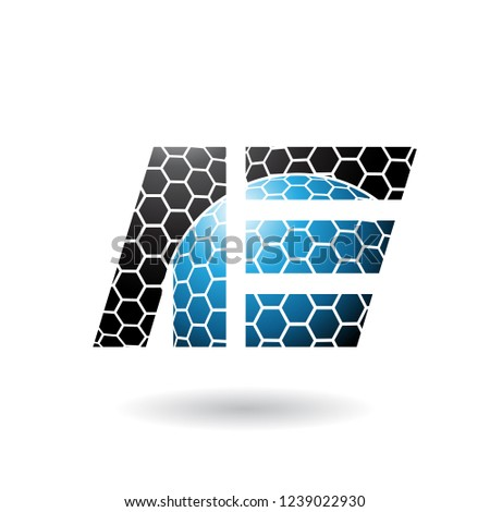 Black and Blue Geometrical Dual Letters of A and E Vector Illust Stock photo © cidepix