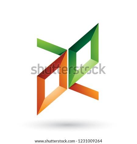Stockfoto: Groene · oranje · frame · zoals · brieven · vector