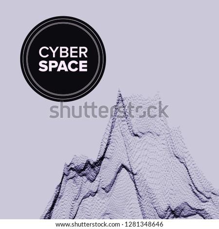 Ponto abstrato vetor nano alívio futurista Foto stock © pikepicture