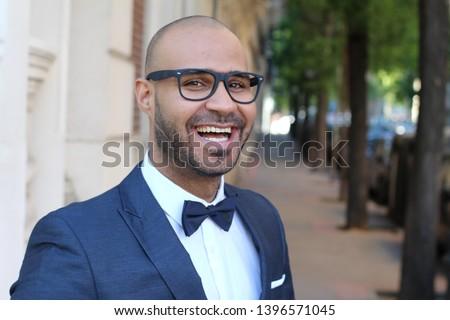 肖像 魅力的な 男 着用 黒 タキシード ストックフォト © feedough