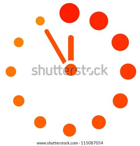 klok · icon · ontwerp · 7 · dagen · week · geïsoleerd - stockfoto © kyryloff