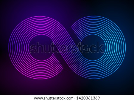 Infinity sign color gradient. Eight sign colorful gradient icon. Vector illustration isolated on whi Stock photo © kyryloff