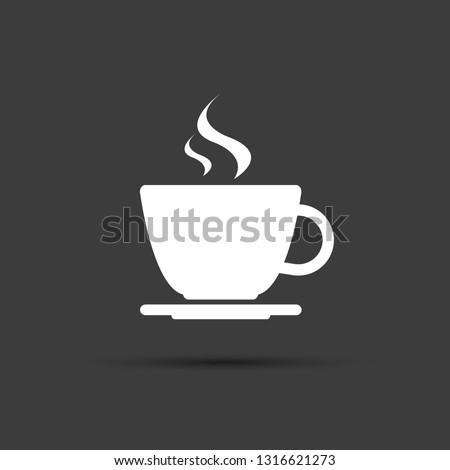 Simple modernes blanche tasse café vecteur Photo stock © kurkalukas