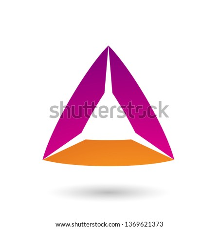 Magenta and Orange Triangle with Bowed Edges Vector Illustration Stock photo © cidepix