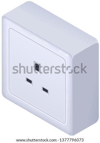 Brits elektrische stopcontact type isometrische icon Stockfoto © orensila