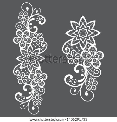 Romantyczny retro koronki wektora długo wzór Zdjęcia stock © RedKoala