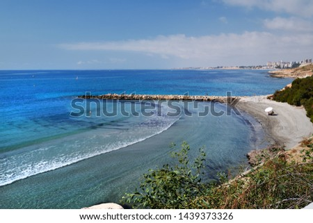 Idílico paisaje vista superior arenoso costa Foto stock © amok