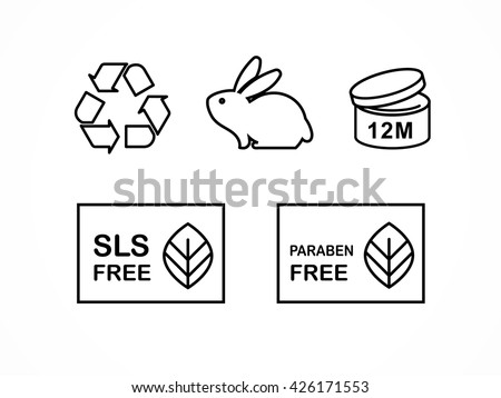 ingesteld · natuurlijke · cosmetica · ontwerp · verpakking · iconen - stockfoto © marish