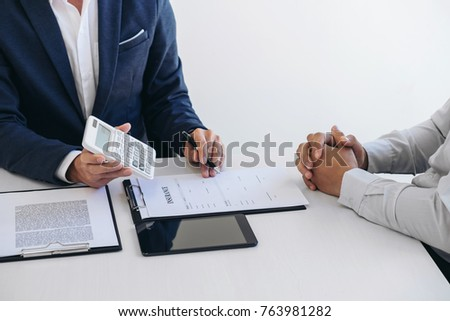Businessman being analysis and making the decision a car insuran Stock photo © Freedomz