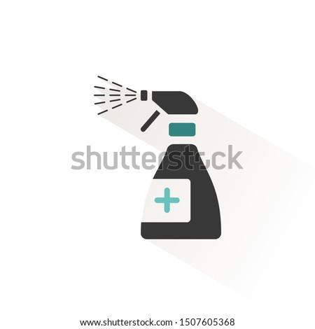 Spray ikon bézs árnyék gyógyszertár takarítás Stock fotó © Imaagio