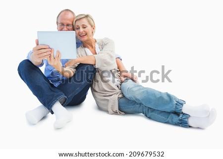 Görmek mutlu dijital tablet Stok fotoğraf © wavebreak_media