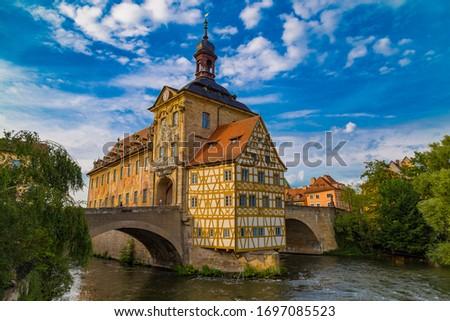 旧市街 · ホール · ドイツ · 美しい · 建物 - ストックフォト © xbrchx
