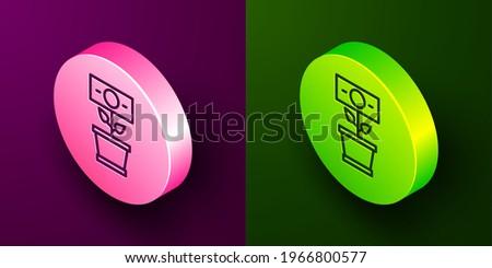 ドル記号 紫色 ボタン 在庫 孤立した 白 ストックフォト © kyryloff