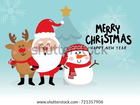 Radosny projektu snowman Święty mikołaj gnom Zdjęcia stock © balasoiu